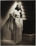 "Movie Posters:Miscellaneous, Carole Lombard by William Walling Jr. (Universal, 1930s).Autographed Portrait Photo (10.5"" X 13.5"").. ..."