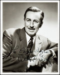 "Movie Posters:Miscellaneous, Walt Disney (c.1950s) Autographed Portrait Photo (8"" X 10"").. ..."