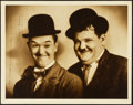 "Movie Posters:Comedy, Stan Laurel and Oliver Hardy (1932). Autographed Portrait Photo(11"" X 14"").. ..."