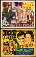 "Movie Posters:Comedy, His Girl Friday (Columbia, 1940). Title Lobby Card and Lobby Card(11"" X 14"").. ... (Total: 2 Items)"