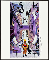 "2001: A Space Odyssey (MGM, 1968). Jumbo Color Photos (3) and Autographed Jumbo Color Photo (1) (16"" X 20"")..."
