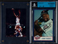 Miscellaneous Collectibles:General, Kirby Puckett and Julius Erving Signed Photographs Lot of 2....