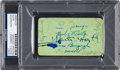 Autographs:Others, Circa 1930 New York Yankees Signed Ticket with Babe Ruth, LouGehrig....