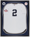 "Baseball Collectibles:Uniforms, Derek Jeter ""The Captain 6-3-03"" Signed New York Yankees Jersey...."