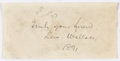 """Autographs:Military Figures, Union General Lew Wallace Clipped Signature. 4"""" x 2"""". Excised from a larger document, Wallace has inscribed, in full: """"Tru..."""