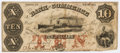 "Miscellaneous:Ephemera, [Confederate Currency]. State of Georgia $10 Note. 7"" x 3"". Issuedfrom Savannah in 1863, the bill is signed and numbered 12..."