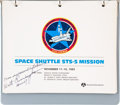Explorers:Space Exploration, Space Shuttle Columbia (STS-5) Presentation Book and PatchesOriginally from the Personal Collection of Astronaut ...