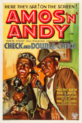 "Movie Posters:Comedy, Check and Double Check (RKO, 1930). One Sheet (27.25"" X 41"").. ..."