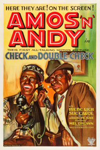 """Check and Double Check (RKO, 1930). One Sheet (27.25"""" X 41"""")"""