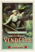 "Movie Posters:Drama, Vendetta (George Kleine, 1914). One Sheet (28"" X 42"").. ..."