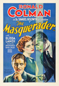 "Movie Posters:Mystery, The Masquerader (United Artists, 1933). One Sheet (28.25"" X41.25"").. ..."