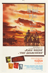 """The Searchers (Warner Brothers, 1956). One Sheet (27"""" X 41"""")"""