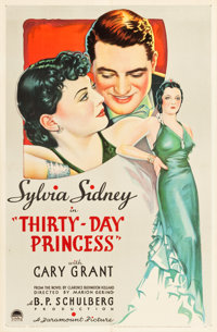 """Thirty Day Princess (Paramount, 1934). One Sheet (27"""" X 41"""") Style A"""