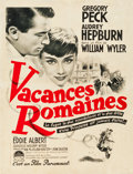 "Movie Posters:Romance, Roman Holiday (Paramount, 1954). French Affiche (23.5"" X 31"").. ..."