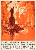 "Movie Posters:War, World War I Propaganda (U.S. Government Printing Office, 1918).Fourth Liberty Loan Poster (30"" X 41.25"") ""That Liberty Shal..."