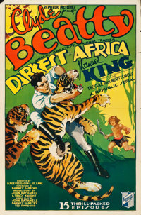 "Darkest Africa (Republic, 1936). Stock One Sheet (27"" X 41"")"