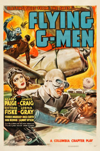 "Flying G-Men (Columbia, 1939). Stock One Sheet (27.5"" X 41"")"