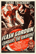 "Movie Posters:Serial, Flash Gordon Conquers the Universe (Universal, 1940). One Sheet(27"" X 41"") Chapter 11 -- ""Stark Treachery."". ..."