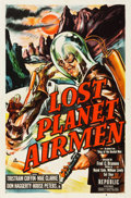 "Movie Posters:Science Fiction, Lost Planet Airmen (Republic, 1951). One Sheet (27"" X 41""). Featureversion of King of the Rocket Men.. ..."