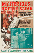 "Movie Posters:Serial, Mysterious Doctor Satan (Republic, 1940). One Sheets (2) (27"" X 41"") Chapter 1 -- ""Return of the Copperhead"" and Chapter 5 -... (Total: 2 Items)"