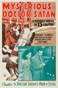 "Mysterious Doctor Satan (Republic, 1940). One Sheets (2) (27"" X 41"") Chapter 1 -- ""Return of the Copperhe..."