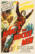 "Movie Posters:Serial, King of the Rocket Men (Republic, 1949). Stock One Sheet (27"" X41"").. ..."