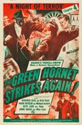 "Movie Posters:Serial, The Green Hornet Strikes Again (Universal, 1941). One Sheet (27"" X41"")Chapter 4 -- ""A Night of Terror."". ..."
