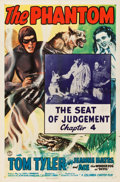 "Movie Posters:Serial, The Phantom (Columbia, 1943). One Sheet (27"" X 41"") Chapter 4 -- The Seat of Judgment."". ..."