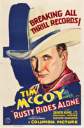 "Movie Posters:Western, Rusty Rides Alone (Columbia, 1933). One Sheet (27"" X 41"").. ..."