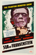 "Movie Posters:Horror, Son of Frankenstein (Realart, R-1953). One Sheet (27"" X 40.5"")....."