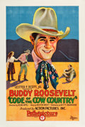 "Movie Posters:Western, Code of the Cow Country (Pathé, 1927). One Sheet (27.5"" X 40.75"")....."