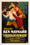 "Movie Posters:Western, $50,000 Reward (Clifford S. Elfelt, 1924). One Sheet (27"" X 41"").. ..."
