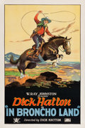"Movie Posters:Western, In Broncho Land (Rayart Pictures, 1926). One Sheet (27.25"" X 40.75"").. ..."