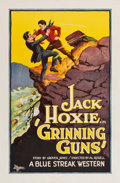 "Movie Posters:Western, Grinning Guns (Universal, 1927). One Sheet (27"" X 41"").. ..."