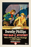 "Movie Posters:Western, The Bar-C Mystery (Pathé, 1926). One Sheet (27"" X 41"").. ..."