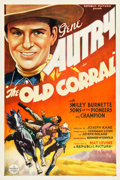 "Movie Posters:Western, The Old Corral (Republic, 1936). One Sheet (27.25"" X 41"").. ..."