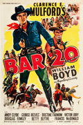 "Movie Posters:Western, Bar 20 (United Artists, 1943). One Sheet (27"" X 41"").. ..."