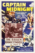 "Movie Posters:Serial, Captain Midnight (Columbia, 1942). One Sheet (27"" X 41"") Chapter 2 -- ""The Stolen Range Finder."". ..."