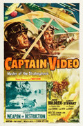 "Movie Posters:Serial, Captain Video, Master of the Stratosphere (Columbia, 1951). One Sheet (27"" X 41"") Chapter 11 -- ""Weapon of Destruction."". ..."