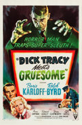 """Movie Posters:Crime, Dick Tracy Meets Gruesome (RKO, 1947). One Sheet (27"""" X 41"""").. ..."""