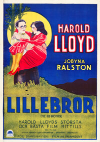"The Kid Brother (Paramount, 1927). Swedish One Sheet (27.5"" X 39.25"")"