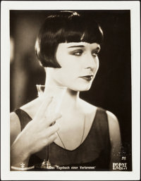 """Louise Brooks in Diary of a Lost Girl (Favorite Film, 1929). German Lobby Card (8"""" X 10. 5"""", Mounted 9.5""""..."""