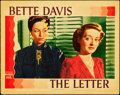 "Movie Posters:Film Noir, The Letter (Warner Brothers, 1940). Lobby Card (11"" X 14"").. ..."