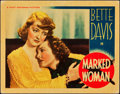 """Movie Posters:Crime, Marked Woman (Warner Brothers, 1937). Lobby Card (11"""" X 14"""").. ..."""