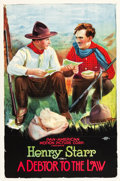 "Movie Posters:Western, A Debtor to the Law (Pan American, 1919). One Sheet (26.5"" X40.5"").. ..."