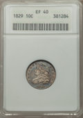 Bust Dimes: , 1829 10C Small 10C XF40 ANACS. NGC Census: (9/250). PCGS Population(22/219). Mintage: 770,000. Numismedia Wsl. Price for p...