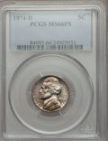 Jefferson Nickels: , 1974-D 5C MS66 Full Steps PCGS. PCGS Population (39/4). Numismedia Wsl. Price for problem free NGC/PCGS...