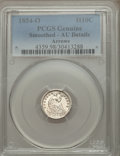 Seated Half Dimes, 1854-O H10C Arrows -- Smoothed -- PCGS Genuine. AU Details. NGC Census: (4/83). PCGS Population (5/56). Mintage: 1,560,000....