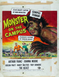 "Movie Posters:Horror, Monster on the Campus by Reynold Brown (Universal International, 1958). Signed Gouache on Board Painting (22"" X 28.5"").. ..."