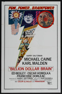 "Billion Dollar Brain (United Artists, 1967). One Sheet (27"" X 41""). Thriller"